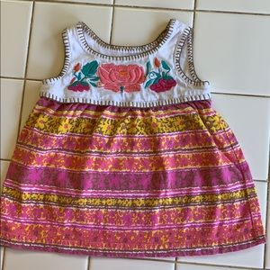 Other - Pink and yellow print dress